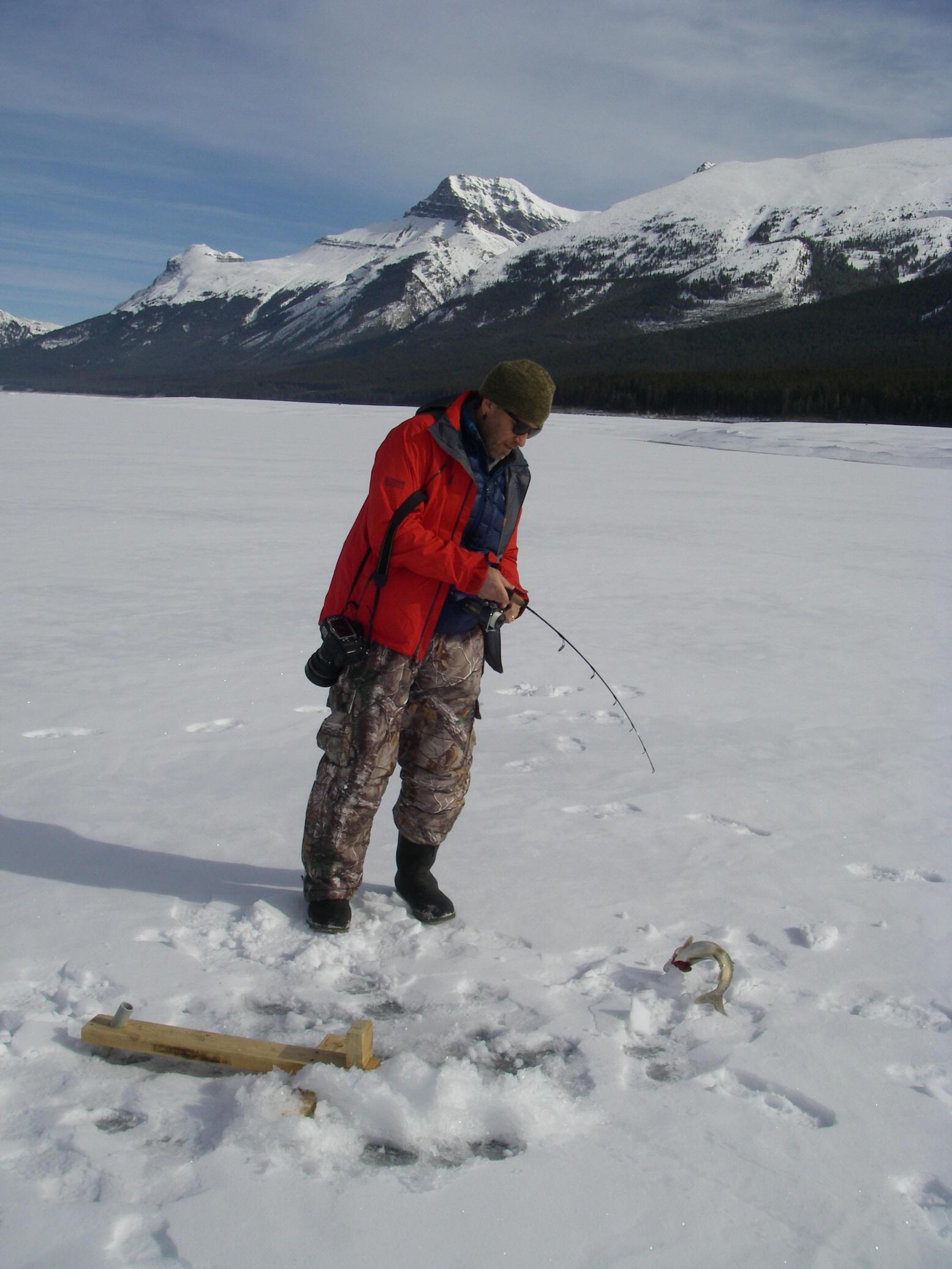 banff ice fishing banff ice fishing guides photographs