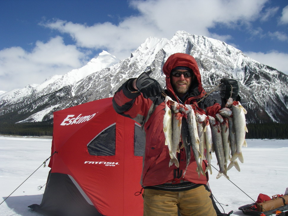 Ice fishing guides banff guided banff fishing trips and for Fishing in banff
